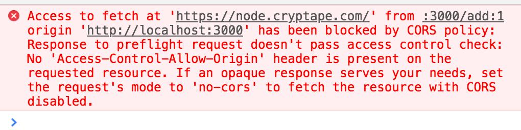 请求https://node cryptape com/ 测试链浏览器提示跨域- AMA(提问区